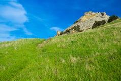 向堡垒墙壁的路径 库存图片