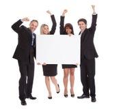 组愉快的企业同事 免版税库存图片
