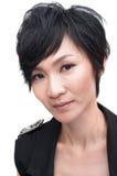 Азиатская холодная девушка Стоковое Фото