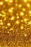 金闪烁和星形 库存图片