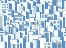 城市的无缝的背景 免版税库存图片