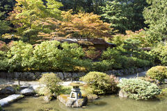 Прелестно японский сад Стоковые Изображения RF