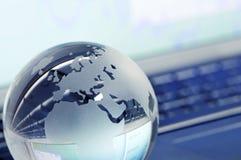 Кристаллический глобус Стоковое фото RF