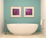 Самомоднейшая ванная комната Стоковые Фотографии RF