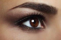 美好的女性眼睛构成。 特写镜头 免版税库存照片