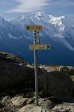 供徒步旅行的小道符号 库存照片