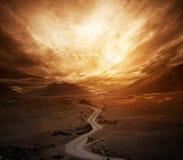 Дорога в долине Стоковая Фотография RF