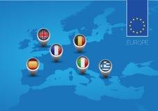 欧洲联合映射标志 免版税图库摄影