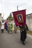 中世纪游行 库存图片