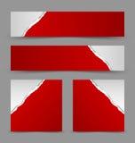 Сорванные бумажные знамена Стоковое Фото