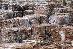 纸张和纸浆厂-废纸 免版税库存图片