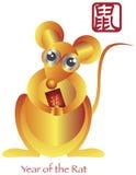 Китайское Новый Год зодиака крысы Стоковые Фотографии RF