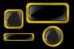 Вектор кнопок и икон золота Стоковые Фотографии RF