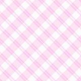 Свет - розовая предпосылка ткани шотландки Стоковое Фото
