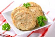 切的面包饺子 免版税库存图片
