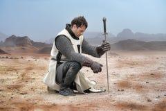Утомленный рыцарь Стоковая Фотография RF