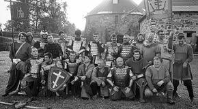 Средневековый панцырь рыцарей Стоковая Фотография