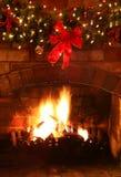 камин рождества Стоковая Фотография