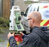 登陆测量员 免版税图库摄影