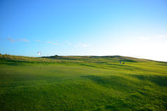 Славный ландшафт поля для гольфа Стоковые Фотографии RF