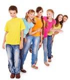 组青少年的人员。 免版税图库摄影