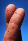 Άνθρωποι δάχτυλων ερωτευμένοι Στοκ Εικόνα