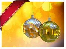 Κάρτα σφαιρών Χριστουγέννων Στοκ εικόνα με δικαίωμα ελεύθερης χρήσης