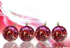 Κάρτα σφαιρών Χριστουγέννων Στοκ φωτογραφίες με δικαίωμα ελεύθερης χρήσης