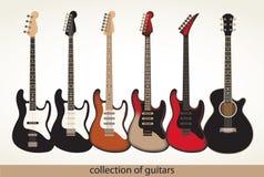Διανυσματικές κιθάρες Στοκ Εικόνες