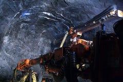 疾风漏洞钻井的采矿机 库存照片