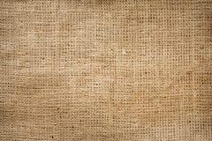 粗麻布黄麻画布葡萄酒背景 免版税库存图片
