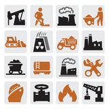 Иконы производства электроэнергии Стоковые Фотографии RF