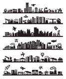 Большие иконы города Стоковая Фотография