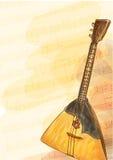 俄式三弦琴-国家俄国乐器。 免版税库存图片