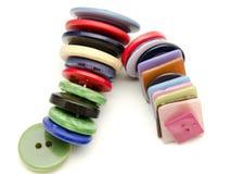 Πλαστικά κουμπιά Στοκ εικόνα με δικαίωμα ελεύθερης χρήσης