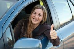 Счастливый водитель Стоковые Изображения