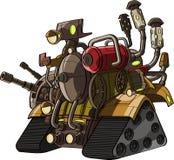 与火力的动画片坦克 免版税图库摄影