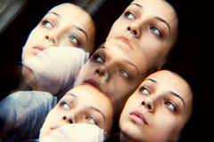 Тревоженая принципиальная схема женщины Стоковая Фотография