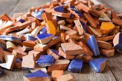 Σπασμένα κεραμίδια μωσαϊκών Στοκ εικόνα με δικαίωμα ελεύθερης χρήσης