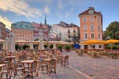 城市广场。 里加,拉脱维亚。 免版税库存图片