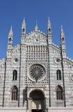 蒙扎大教堂,意大利门面  免版税库存图片