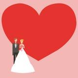 Γαμήλια ανασκόπηση με το διάστημα για το κείμενο Στοκ Εικόνες