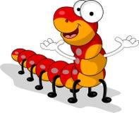 滑稽的红色蠕虫动画片 免版税库存照片