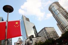 中国上海南京路步行者街道 库存照片