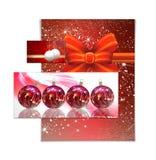 Απεικόνιση καρτών Χριστουγέννων Στοκ Εικόνες