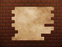 在红砖墙壁的漏洞 库存照片
