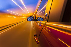 Быстро проходя автомобиль Стоковая Фотография