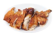 Кудрявый зажаренный цыпленок Стоковые Изображения