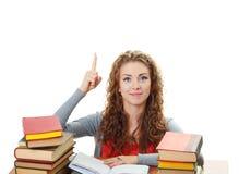 有学员的女孩想法 免版税库存图片