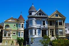 Χρωματισμένες το Σαν Φρανσίσκο κυρίες Στοκ φωτογραφία με δικαίωμα ελεύθερης χρήσης